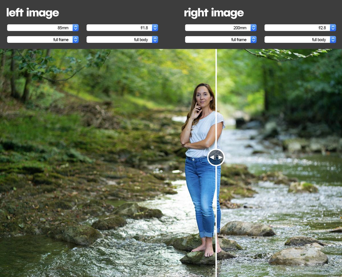 portrait lens comparison tool