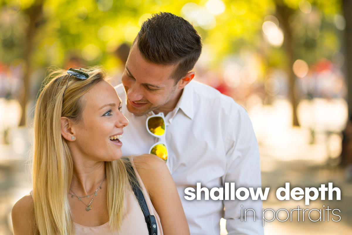 shallow depth large aperture in portrait photography